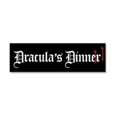 Dracula's Dinner Car Magnet 10 x 3
