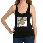 I Love Beavers Racerback Tank Top