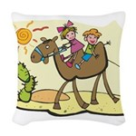 Cute Camel Woven Throw Pillow