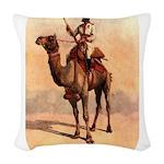 Camel Art Woven Throw Pillow