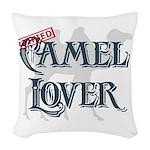 Camel Lover Woven Throw Pillow