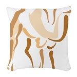 Stylized Camel Woven Throw Pillow