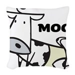 Moo Cow Woven Throw Pillow