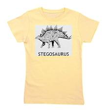 Stegosaurus Girl's Tee