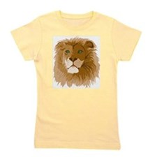 Realistic Lion Girl's Tee