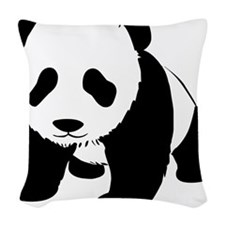 Cute Baby Panda Woven Throw Pillow