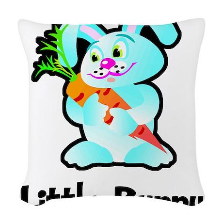 Little Bunny Woven Throw Pillow