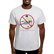 Lawn Dart Safety Ash Grey T-Shirt