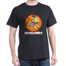 Lawn Dart Safety Black T-Shirt