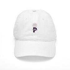 4th of July Fireworks letter P Baseball Baseball Cap