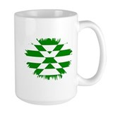 Scotland Green and White Mug