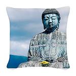 Buddha Woven Throw Pillow