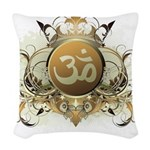 Stylish Om Woven Throw Pillow