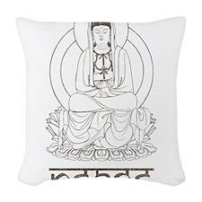 Kuan Yin Peace Woven Throw Pillow