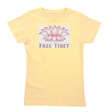 Lotus Free Tibet Girl's Tee