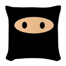 Cute Ninja Face Woven Throw Pillow
