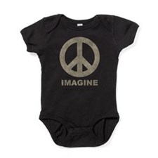 Vintage Imagine Peace Baby Bodysuit
