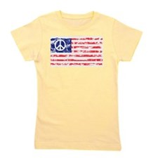 Vintage Peace In America Girl's Tee