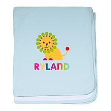 Ryland Loves Lions baby blanket