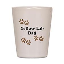 Yellow Lab Dad Shot Glass