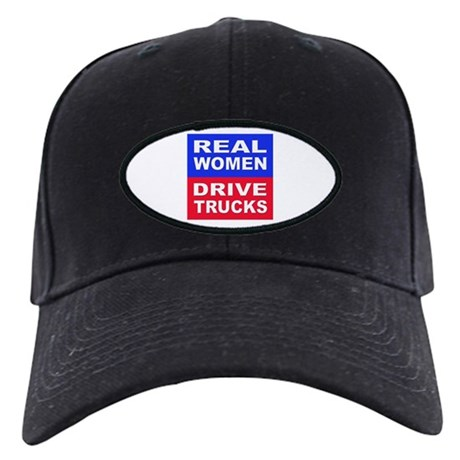 Real Women Drive Trucks Black Cap