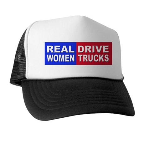 Real Women Drive Trucks Trucker Hat