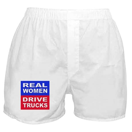 Real Women Drive Trucks Boxer Shorts