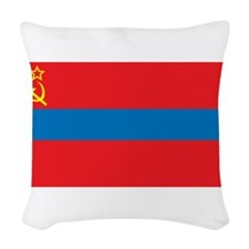Armenia SSR Flag Woven Throw Pillow