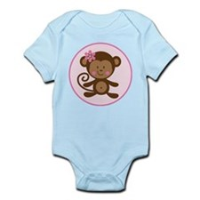 Cute Monkey Girl Infant Bodysuit