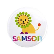 "Samson Loves Lions 3.5"" Button (100 pack)"