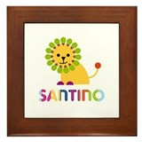 Santino Loves Lions Framed Tile