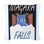 Niagara Falls Woven Throw Pillow