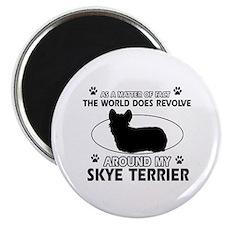 Skye Terrier dog funny designs Magnet