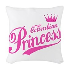 Colombian Princess Woven Throw Pillow