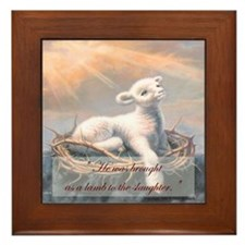 """Behold the Lamb of God"" Fine Art Framed Tile"