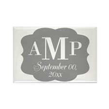 Modern Wedding Monogram Rectangle Magnet
