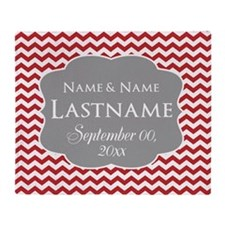 Chevrons Wedding Favor - red Throw Blanket