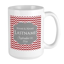 Chevrons Wedding Favor - red Mug