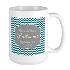 Wedding or Anniversary Chevrons Mug