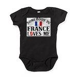 Somebody In France Baby Bodysuit