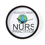 Worlds Greatest Nurse Practitioner Wall Clock