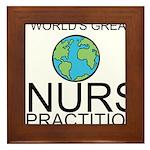 Worlds Greatest Nurse Practitioner Framed Tile