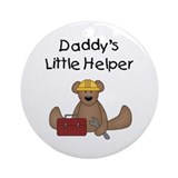 Daddy's Little Helper Ornament (Round)