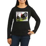 Turkey Day Women's Long Sleeve Dark T-Shirt