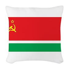 Lithuanian SSR Flag Woven Throw Pillow