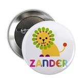 Zander Loves Lions 2.25&quot; Button (10 pack)