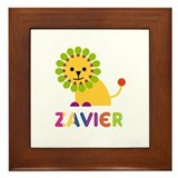 Zavier Loves Lions Framed Tile