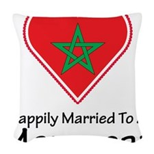 Happily Married Moroccan Woven Throw Pillow