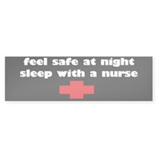Feel Safe at Night, Sleep with a nurse sticker