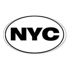 NYC : New York City Oval Decal